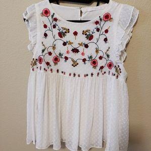 Zara | floral | blouse